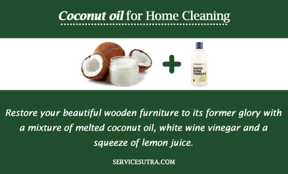 Coconut oil for Home Cleaning