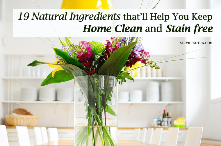 19 Natural Ingredients that'll Help You Keep Home Clean and Stain free