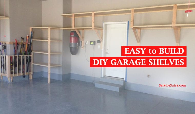 Easy-to-build DIY garage shelves