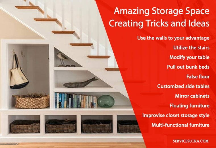 Amazing storage space saving and creating tricks and ideas for home