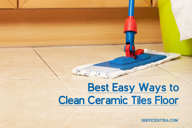 Clean Ceramic Tiles Floor