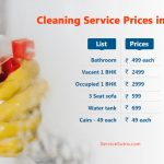 Full Price List for One Time Cleaning Services in Baroda