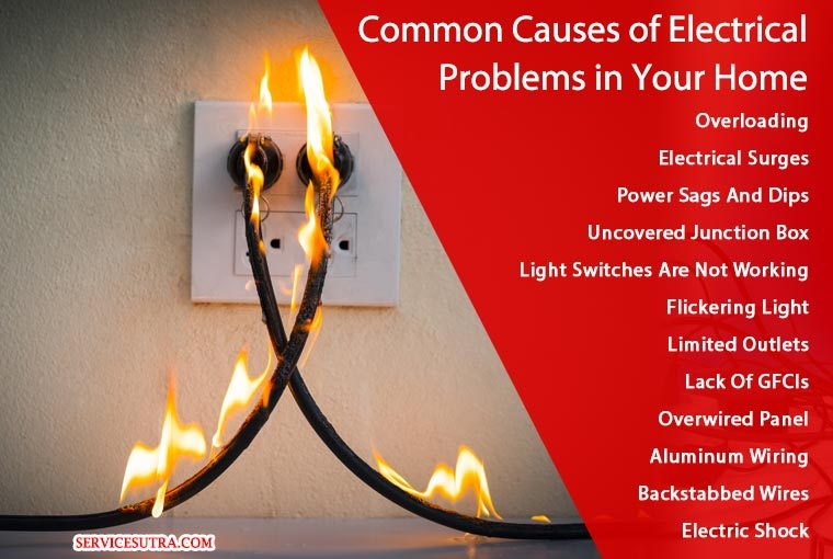 Common Causes of Electrical Problems in Your Home