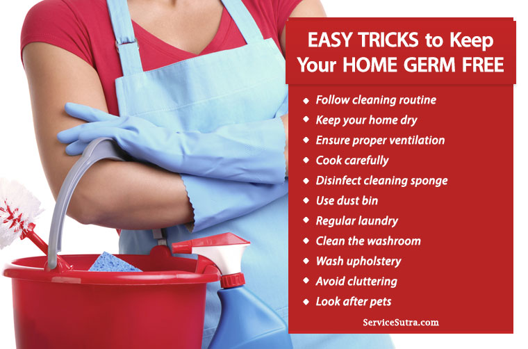 12 Easy Tricks to Keep Your Home Germ Free and Sanitized