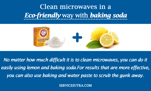 Clean microwaves in a Eco-friendly way with baking soda