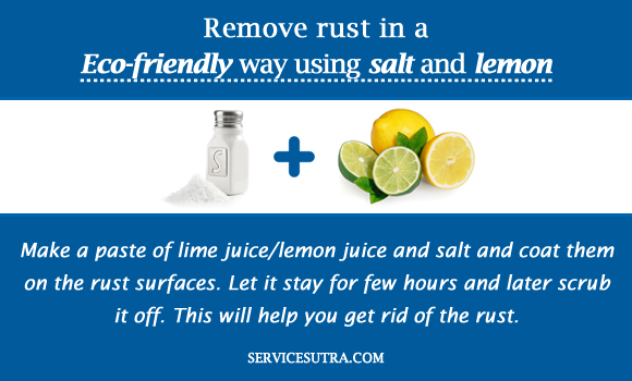 Remove rust in a Eco-friendly way using salt and lemon