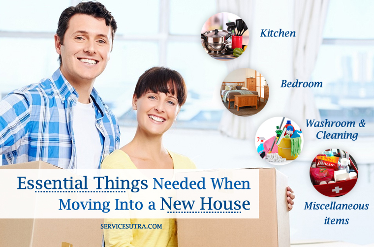 List of essential things needed when moving into a new house for Things you need for a house
