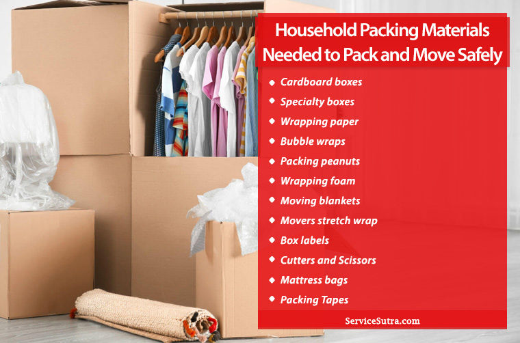 14 Household Packing Materials Needed to Pack and Move Safely