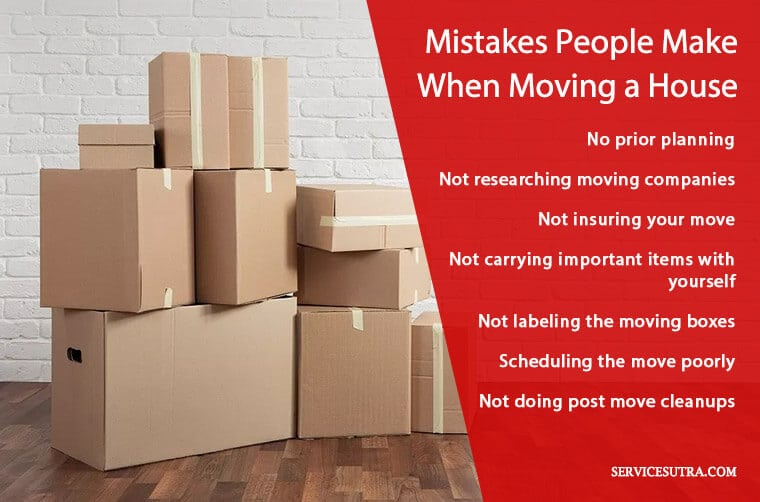 Common moving mistakes people make when relocating