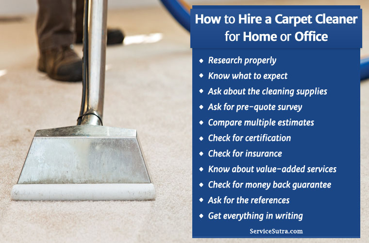 How to Hire a Carpet cleaner for Cleaning Services in India