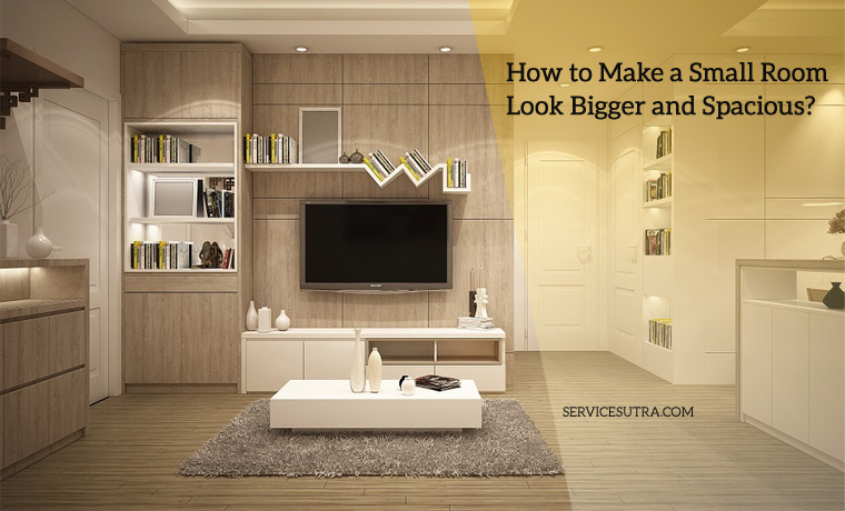 make living room spacious using simple and smart tricks home interior work ServiceSutra