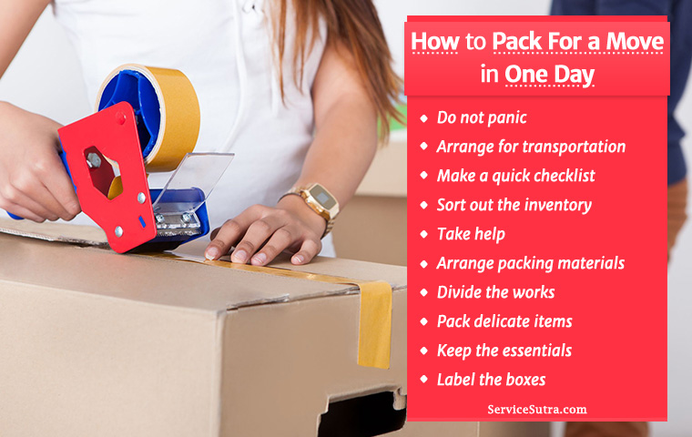Moving In a Hurry? Here Is How to Pack For a Move In One Day