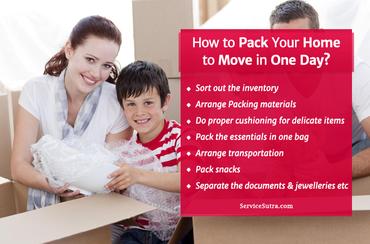 How to Pack Your Home to Move in One Day?