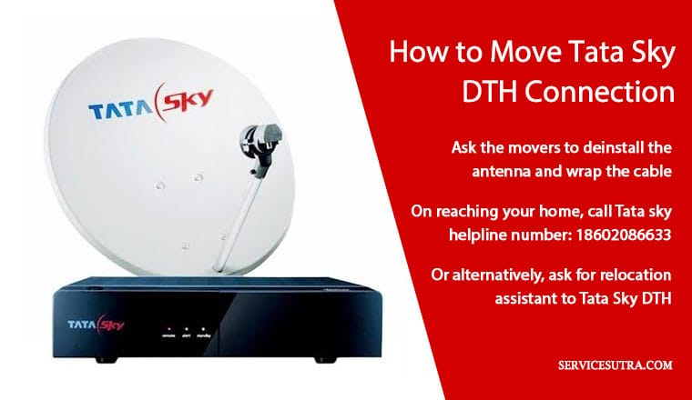 How to move Tata sky DTH connection when relocating