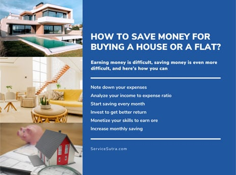 How to save money for buying a house or a flat?