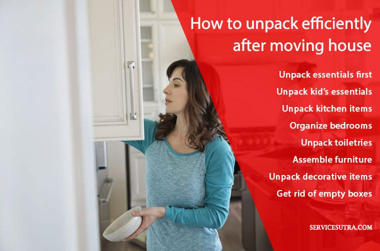 How to efficiently unpack after moving house