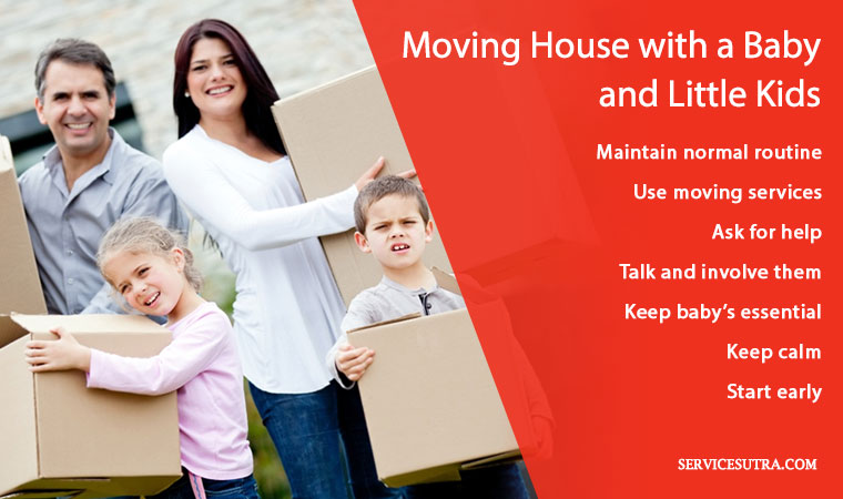 Best tips and things to do when moving house with a baby