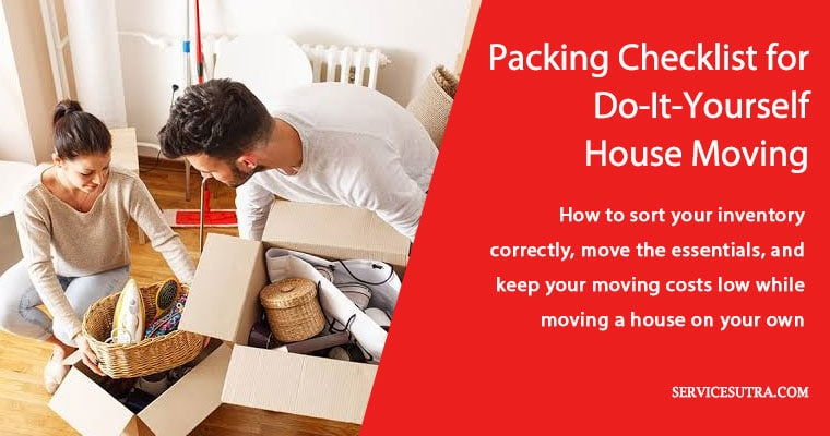 Packing checklist for do-it-yourself house moving with ease