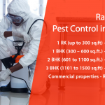 Price and Rates Chart for Pest Control in Bangalore, Karnataka