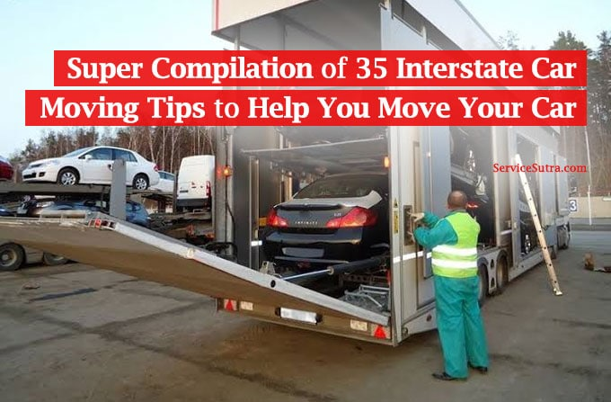 Interstate car moving tips