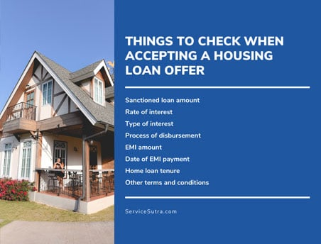 Things to check when accepting a housing loan offer