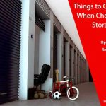 Things to Consider When Choosing a Storage Unit
