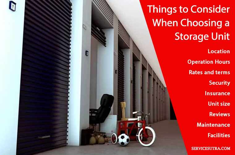 Things to Consider When Choosing a Storage Unit and storage facility for domestic goods storage