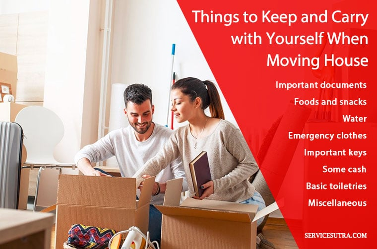 Things to keep and carry with yourself when moving house
