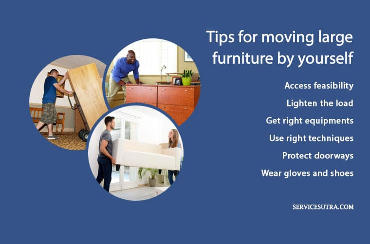 Moving Large Furniture: Tips, techniques and hacks to move it safely by yourself