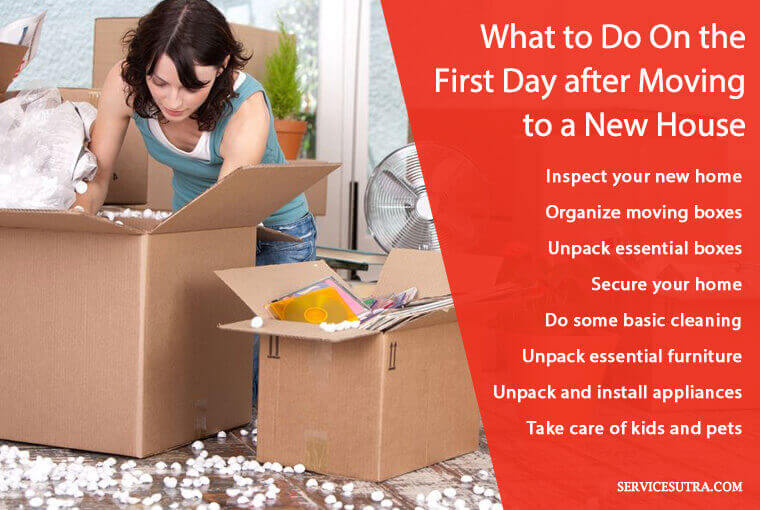 What to do on the first day after moving to a new house